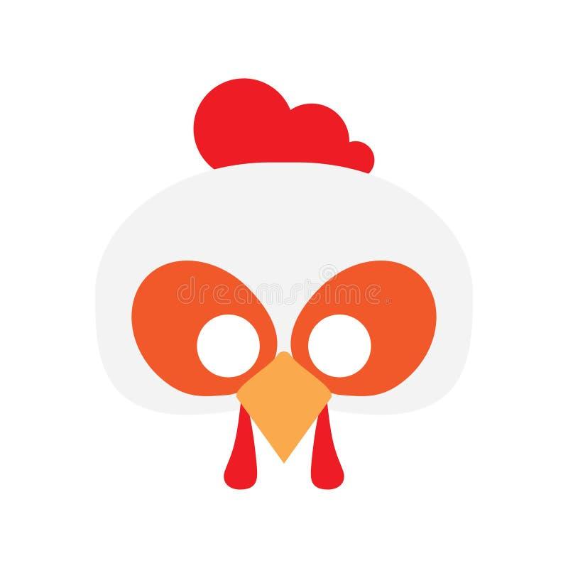 Cartoon rooster mask vector stock illustration