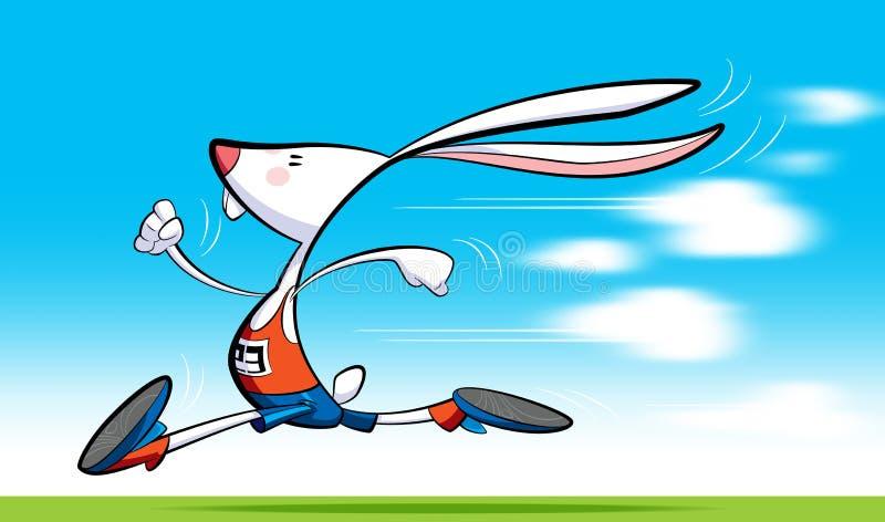 Fast rabbit stock illustration