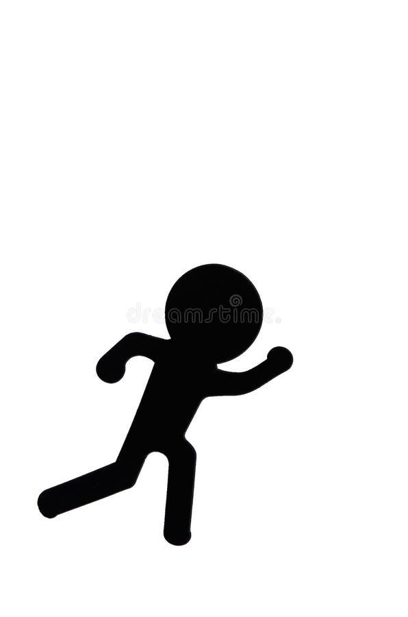 Cartoon running. Cartoon imitating gestures of the people who run the hustle stock photography