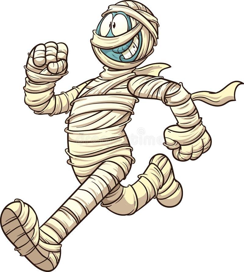 Cartoon running mummy vector illustration