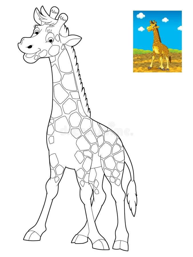 Cartoon safari - coloring page for the children
