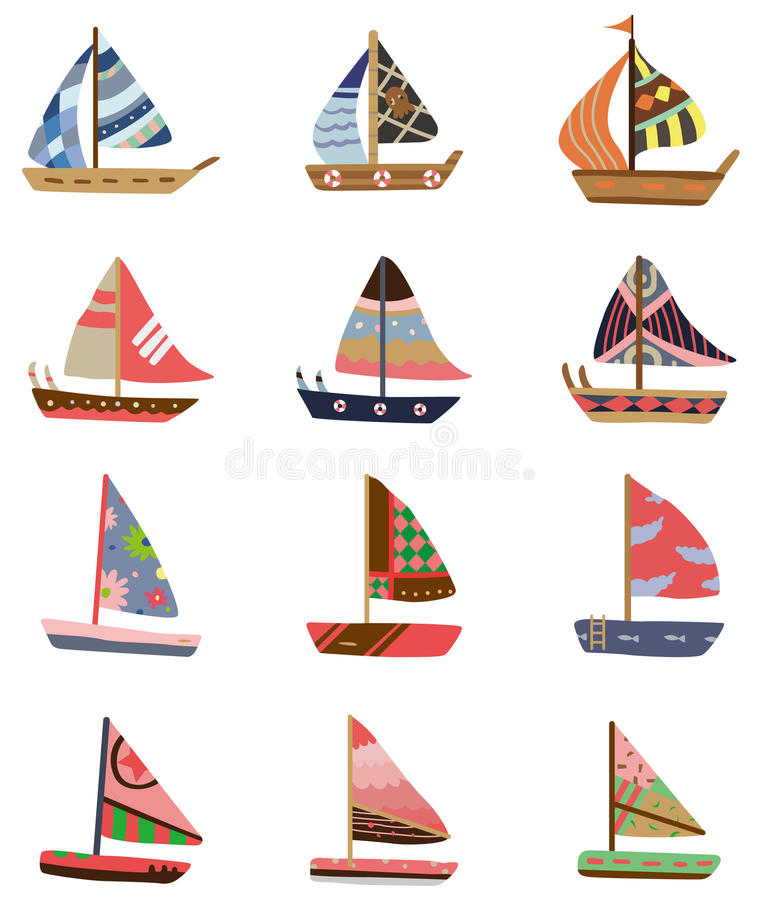 Download Cartoon Sailboat icon stock vector. Illustration of ocean - 17801437