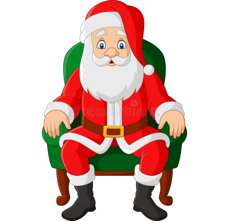Free Cartoon Santa Claus Sitting In Chair Royalty Free Stock Photography - 163854687