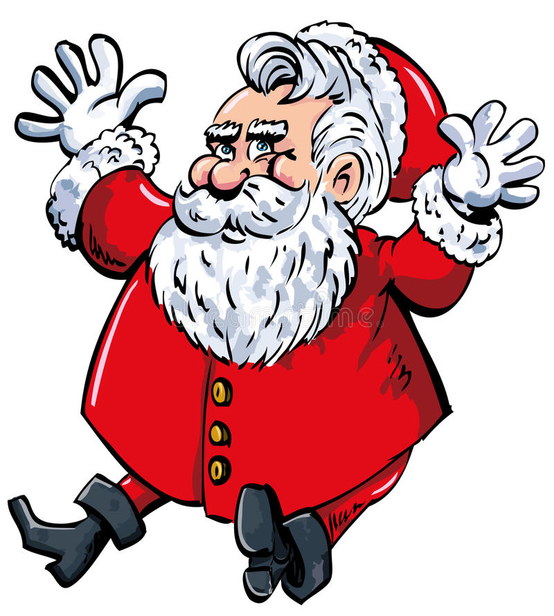 Download Cartoon Santa With A White Beard Royalty Free Stock Photography - Image: 19210057