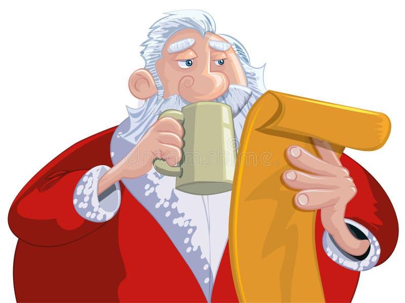Download Cartoon Santa With A White Beard Stock Vector - Illustration of vector, snow: 19213994