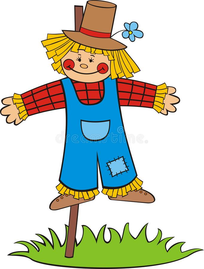 Download Cartoon scarecrow stock vector. Image of childish, agricultural - 14950501