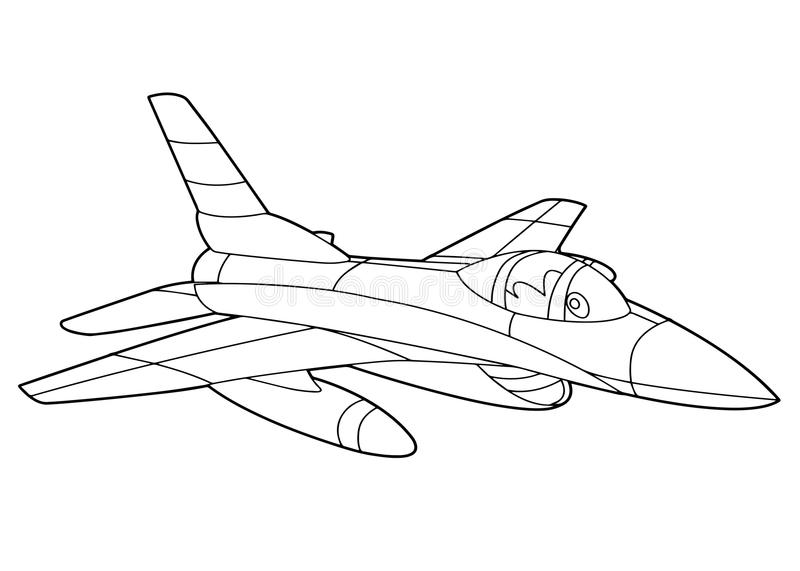 Coloring Plane Stock Illustrations 733 Coloring Plane Stock
