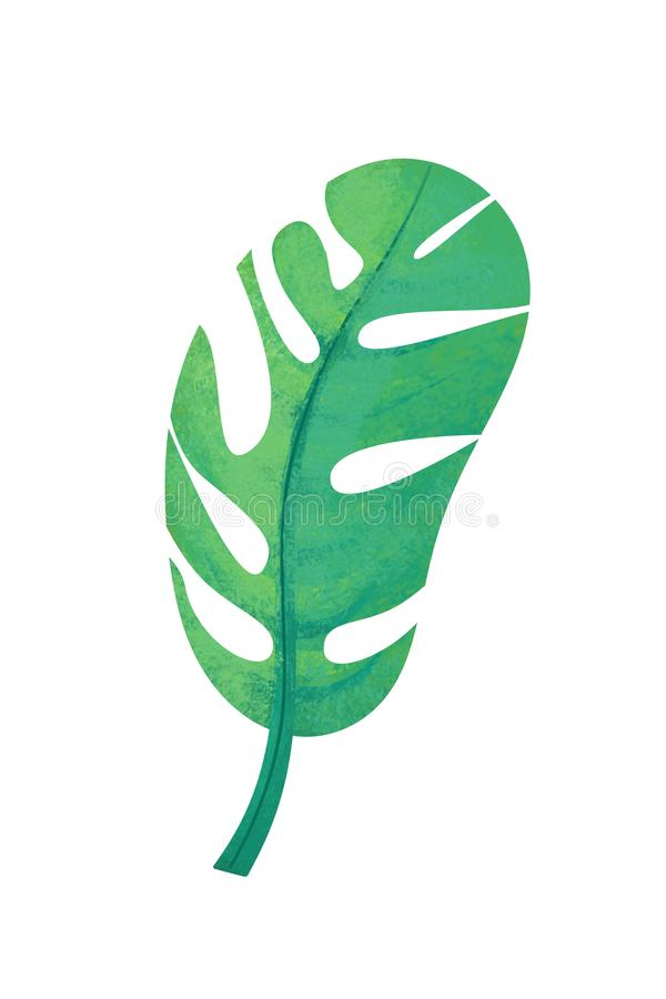Cartoon scene with leaf nature on white background vector illustration
