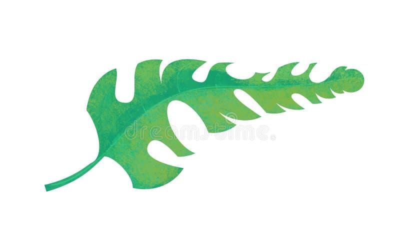Cartoon scene with leaf nature on white background stock illustration