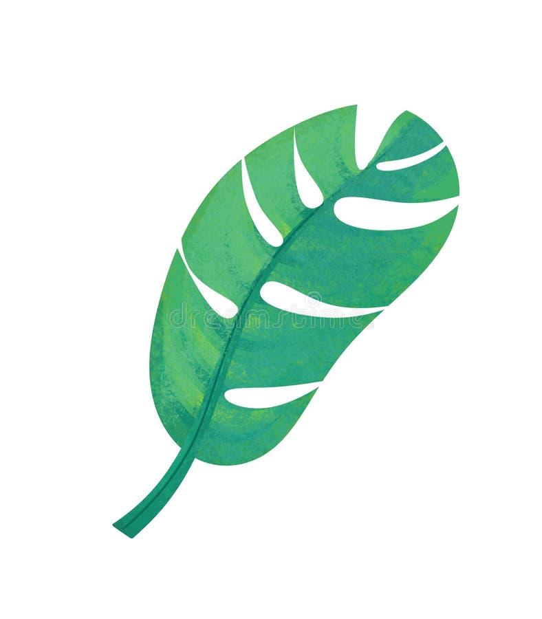 Cartoon scene with leaf nature on white background royalty free illustration