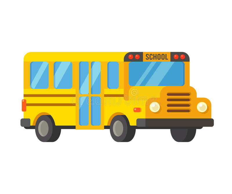 Cartoon School bus stock illustration