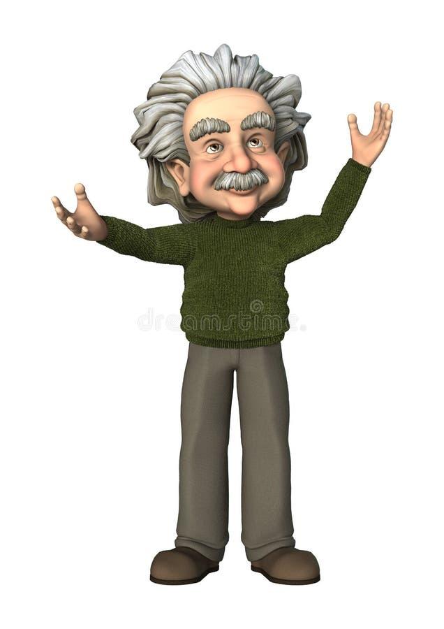 Cartoon Scientist. 3D digital render of a cartoon scientist isolated on white background