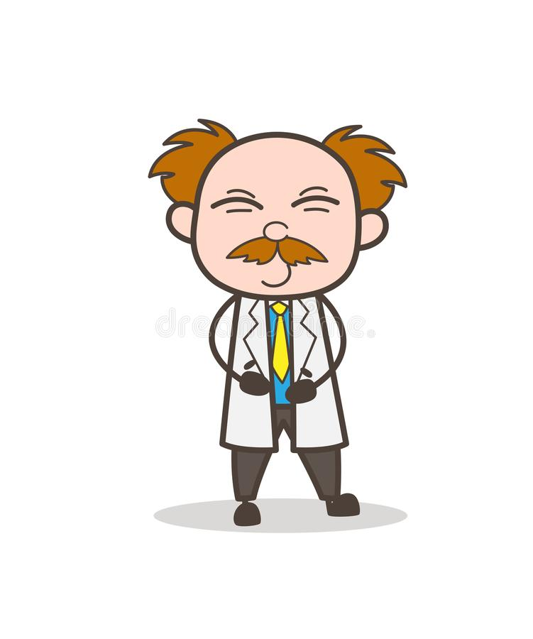 Free Cartoon Scientist Naughty Smile Face Vector Illustration Royalty Free Stock Images - 103595879