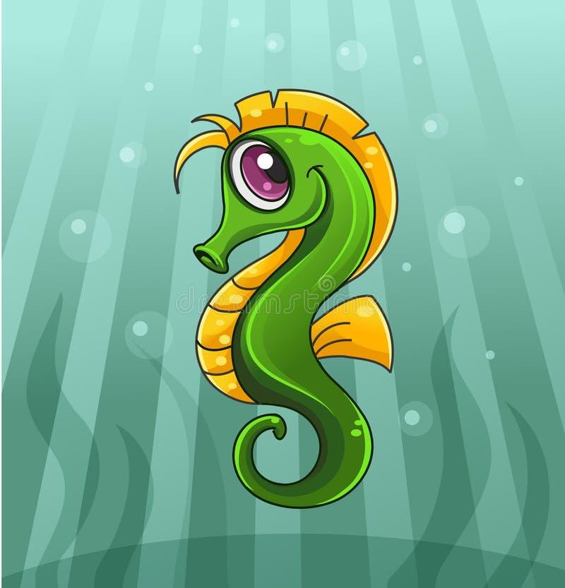 Cartoon seahorse. Vector illustration of cartoon seahorse vector illustration