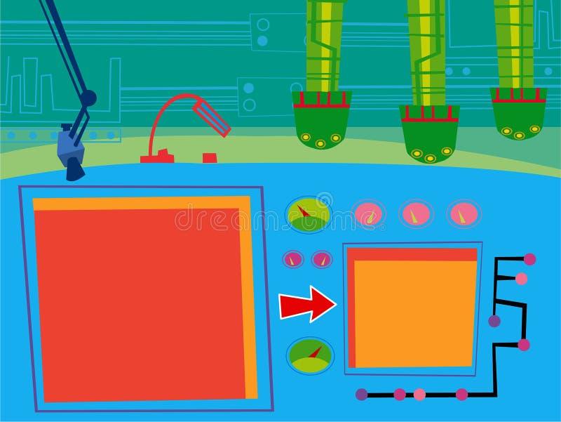 Cartoon security room vector illustration