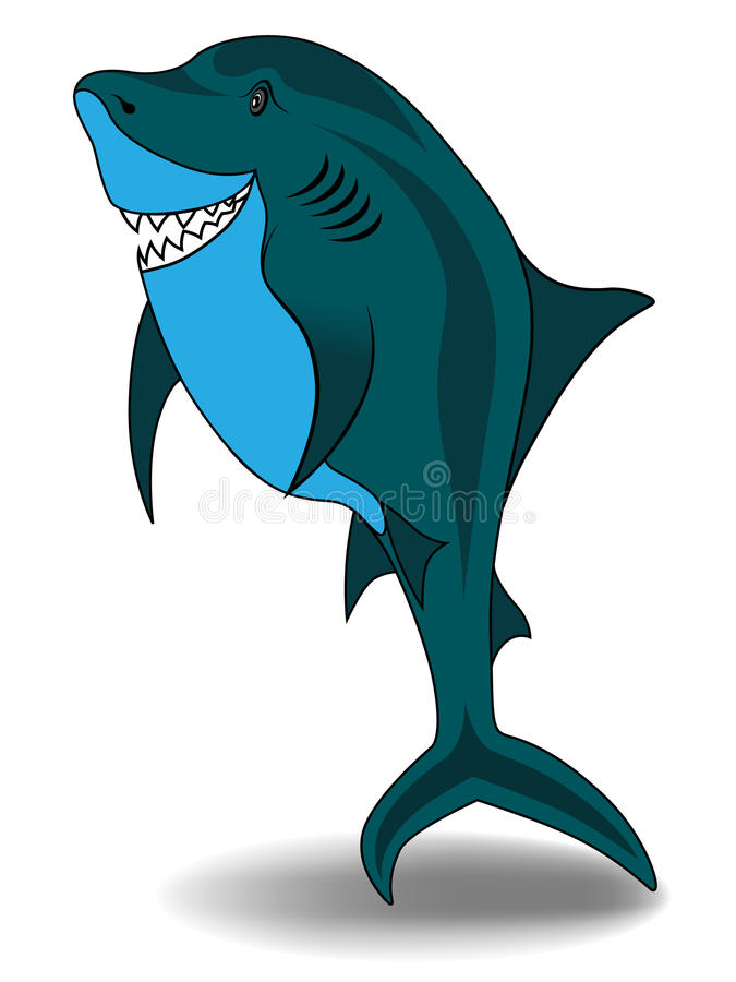 Cartoon Shark - Vector