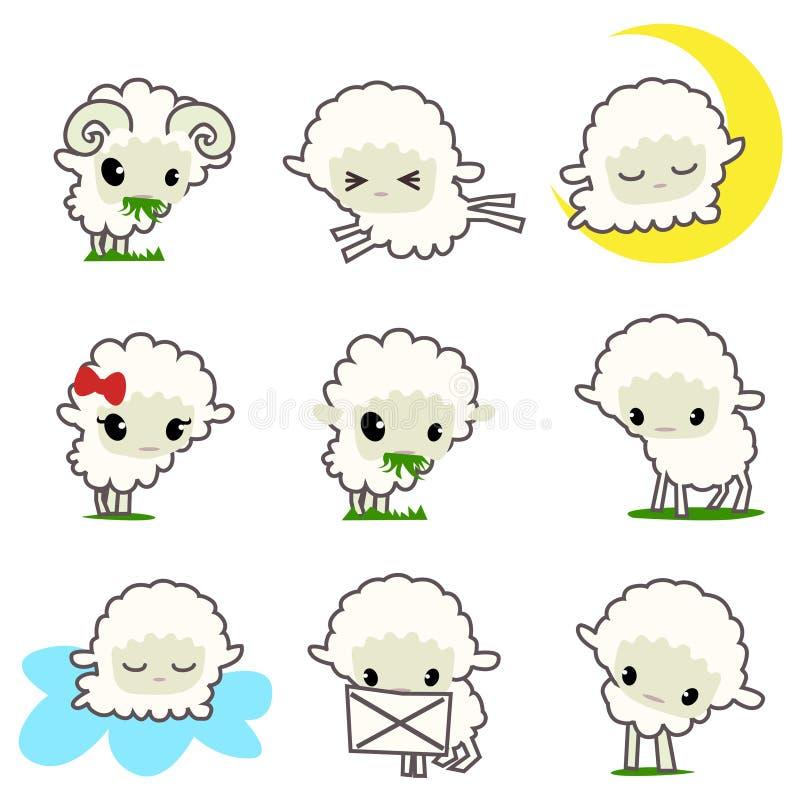 Download Cartoon sheep stock vector. Image of piggy, humor, simplicity - 16752624