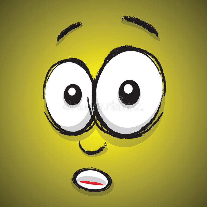cartoon shocked face stock vector. illustration of black - 38737263