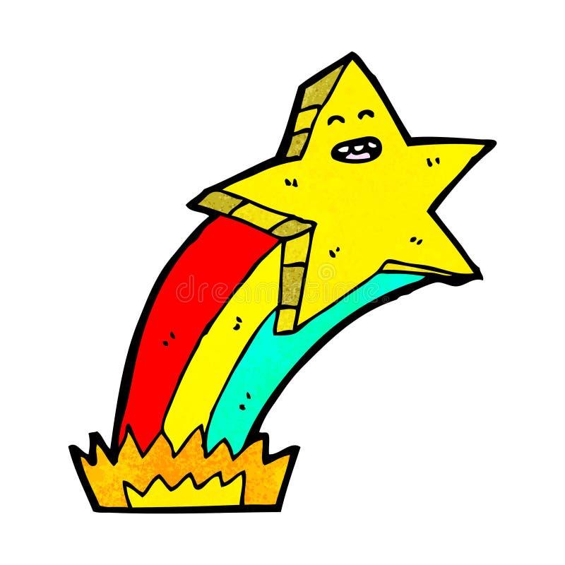 Cartoon shooting star stock vector. Illustration of ...