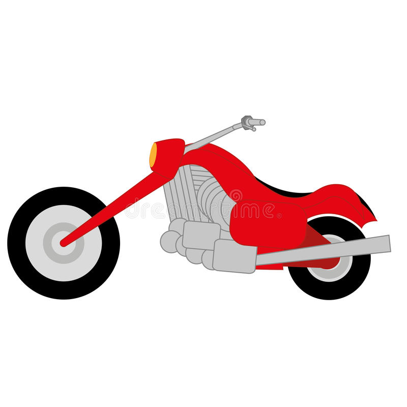 Cartoon Simple Motorcycle stock vector. Illustration of drive - 39043909