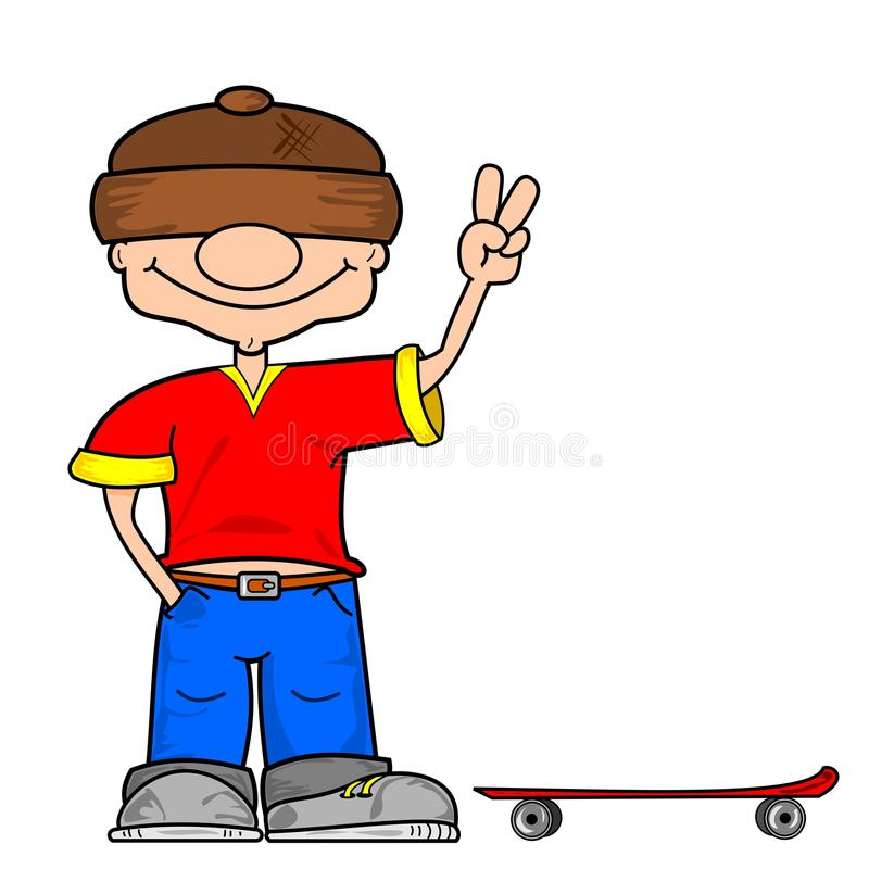 A cartoon skater boy vector illustration