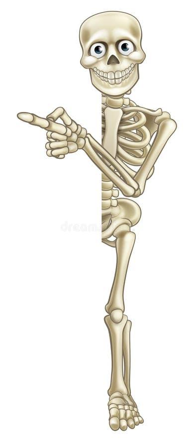 Cartoon Skeleton Pointing royalty free illustration