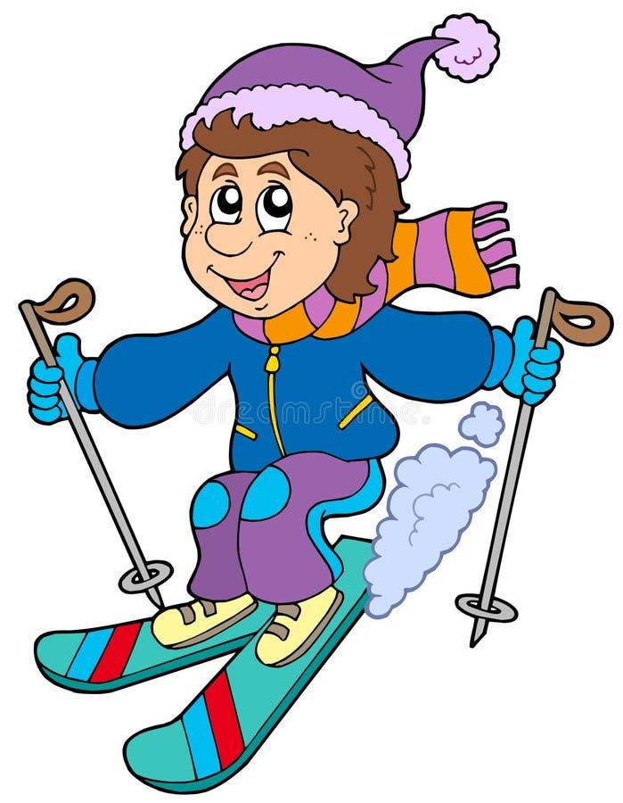 Download Cartoon Skiing Boy Royalty Free Stock Photos - Image: 12265048