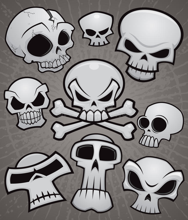 Download Cartoon Skull Collection Stock Photography - Image: 24508142