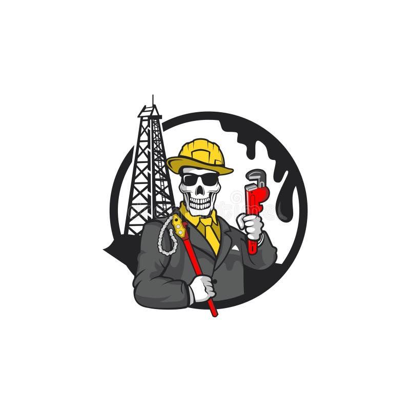 Skull gangster character vector vector illustration