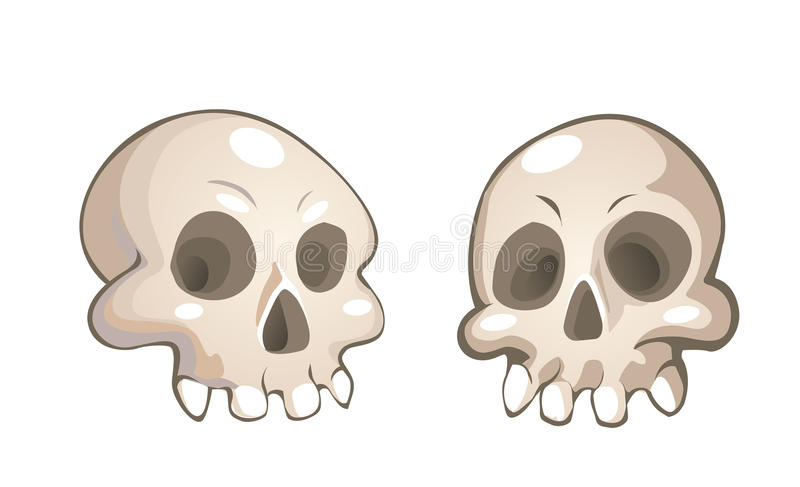 Download Cartoon skulls stock illustration. Image of dreadful - 10675134