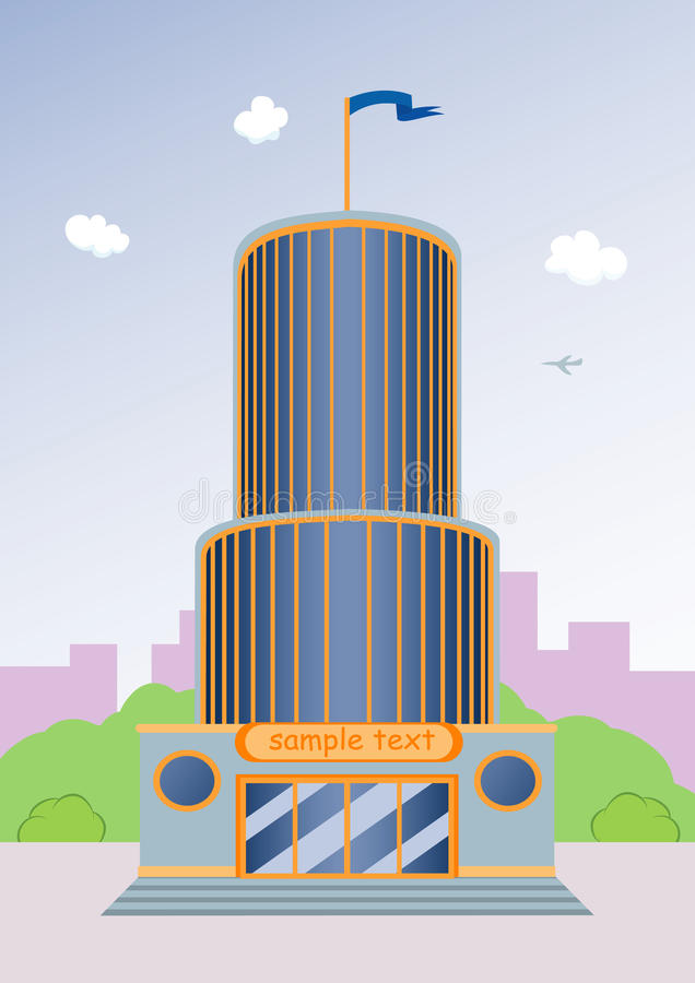 Cartoon Skyscraper Stock Photography Image 16378122
