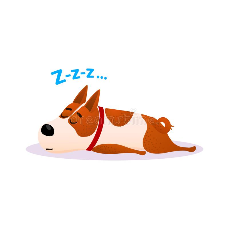Free Cartoon Sleeping Dog Portrait. Cute Resting Puppy. Stock Images - 105907074