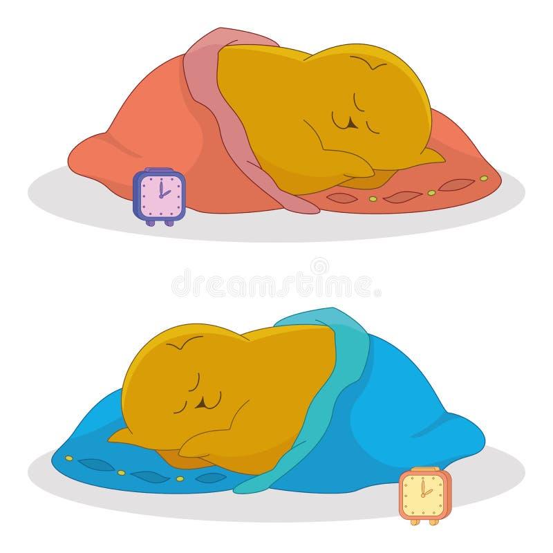 Download Cartoon, sleeping fat cat stock vector. Image of blanket - 26153866