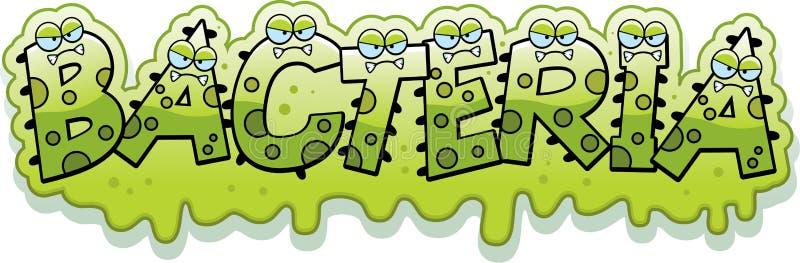 Cartoon Slimy Bacteria Text royalty free illustration
