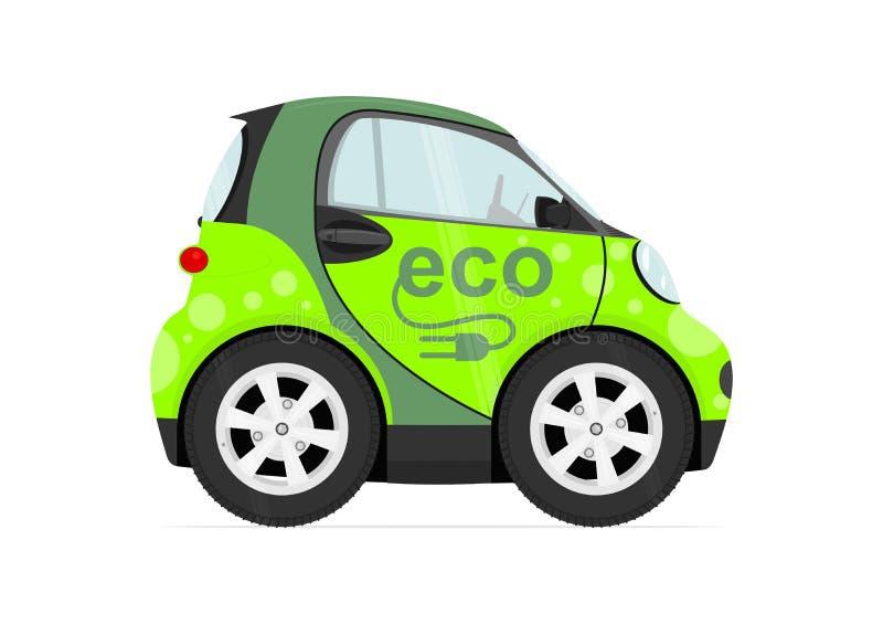 Cartoon small city car stock illustration
