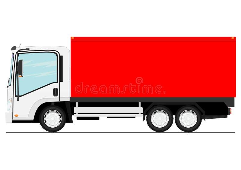 Cartoon small truck. royalty free illustration