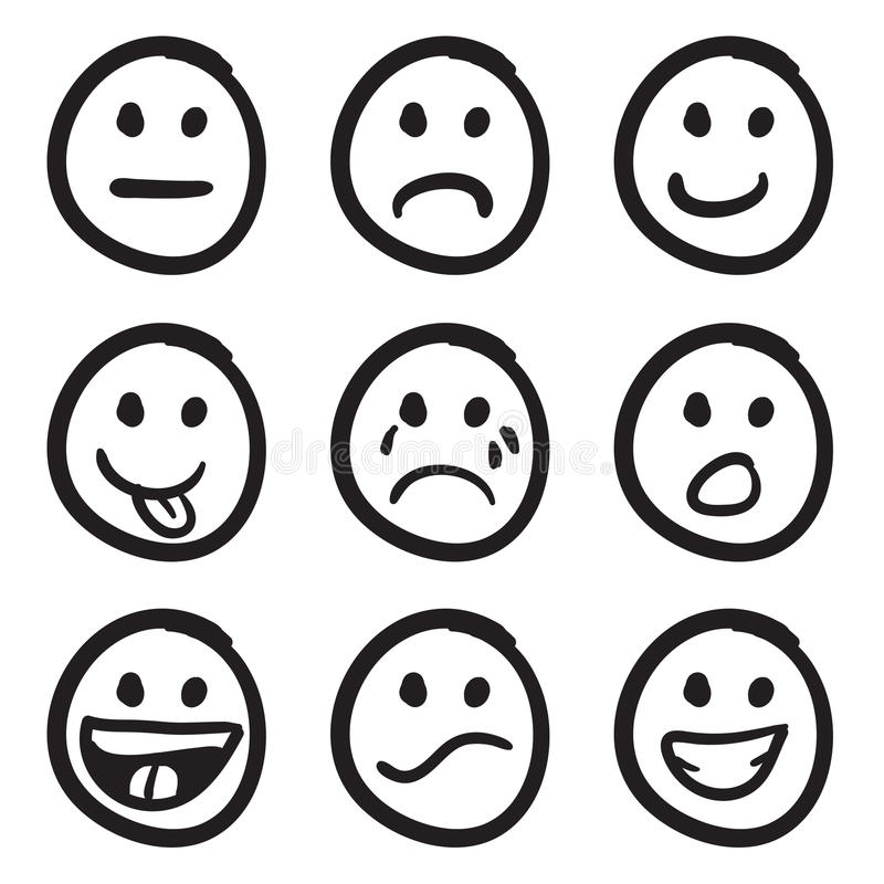 Free Cartoon Smiley Faces Doodles Stock Photo - 11143110