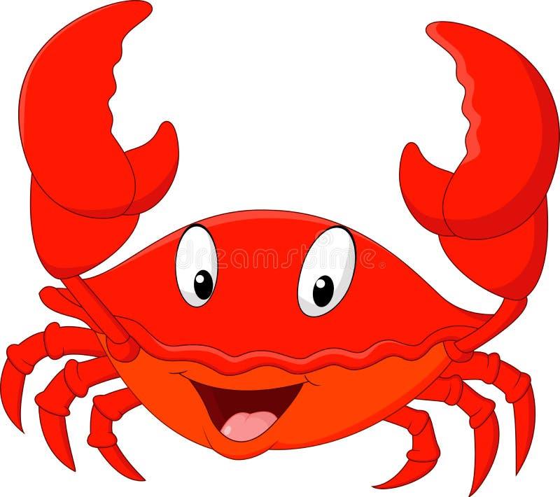 Cartoon smiling crab royalty free illustration