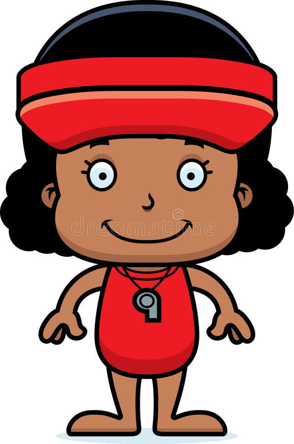 Cartoon Smiling Lifeguard Girl Stock Vector - Illustration ...