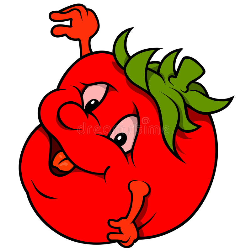 Cartoon Smiling Tomato stock illustration