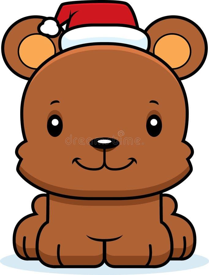Cartoon Smiling Xmas Bear stock illustration