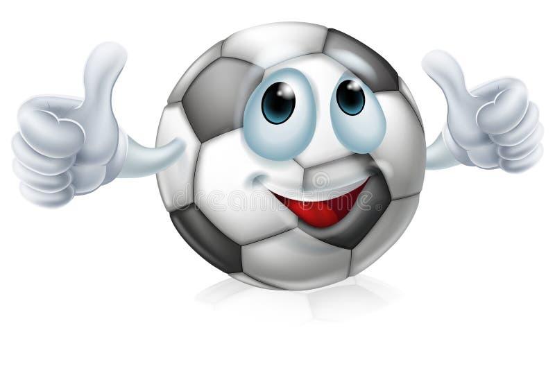 Cartoon soccer ball character royalty free illustration