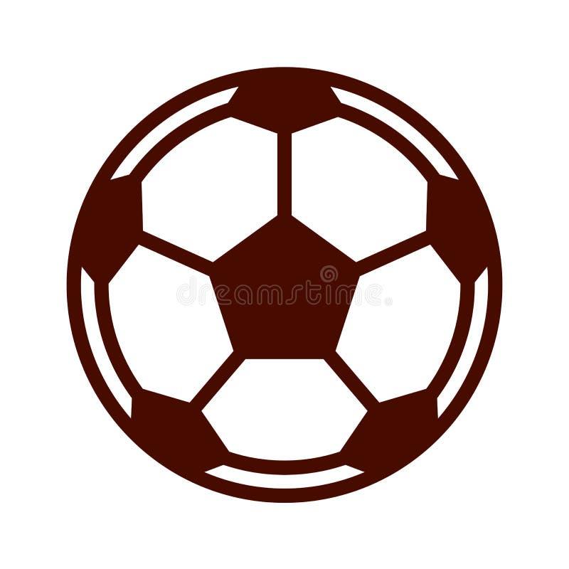Kawaii Soccer Ball Football Icons Set Stock Illustration