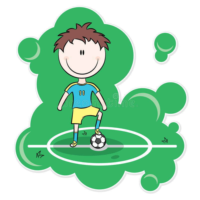 Download Cartoon Soccer Player Royalty Free Stock Photo - Image: 15079125