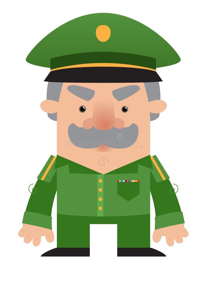 Cartoon soldier Officer stock illustration
