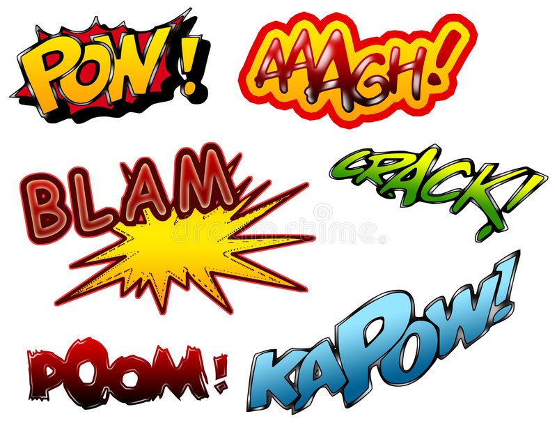 Cartoon sound effects 01 royalty free illustration