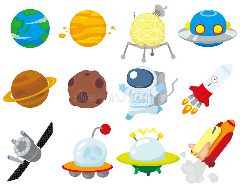 Download Cartoon Space Icon Stock Photo - Image: 18858930