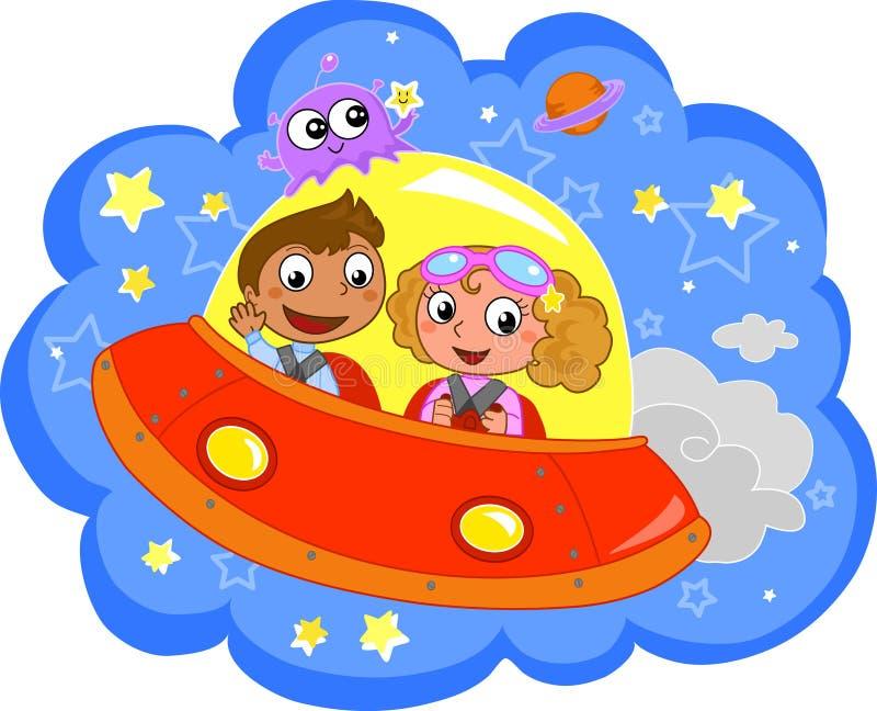 Download Cartoon Spaceship stock vector. Image of explore, galaxy - 19609567