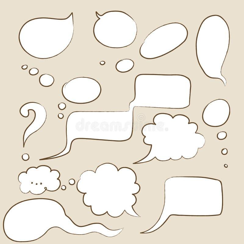 Download Cartoon speech bubbles stock vector. Illustration of dialog - 18392087