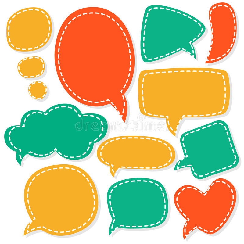 Cartoon speech bubbles. Different sizes and forms. royalty free illustration